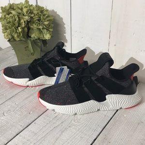 NIB Adidas Prophere Black Red White Mens Size 13